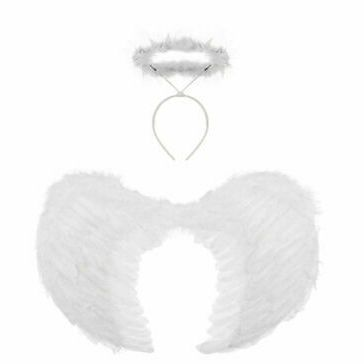 Angel Wings And Halo White