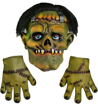 Frankenstein Mask & Gloves