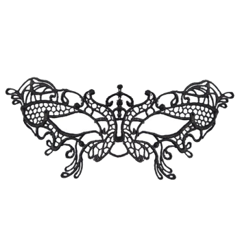 Lace Butterfly Black
