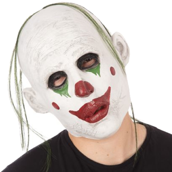 Realistic Clown Mask With Hair