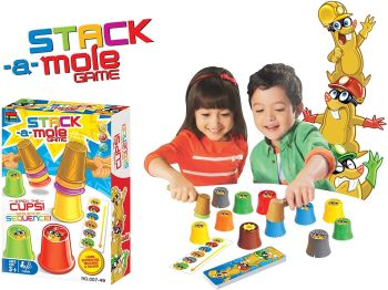 Whack-a-Mole Stack-a-Mole Game