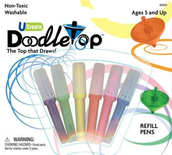 Doodletop Refill Pens (6 Assorted)