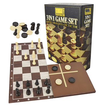3 In 1 Chess/Checkers & Tic Tac Toe