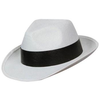 White Al Capone Hat