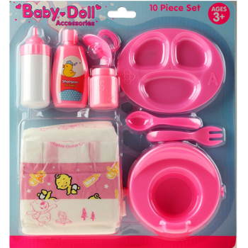 Baby Doll 10 Piece Accessory Set