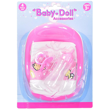 Baby Doll 4 Piece Accessory Set