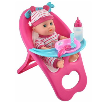 Baby Doll High Chair Playset