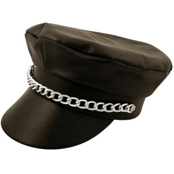 Black Biker Hat