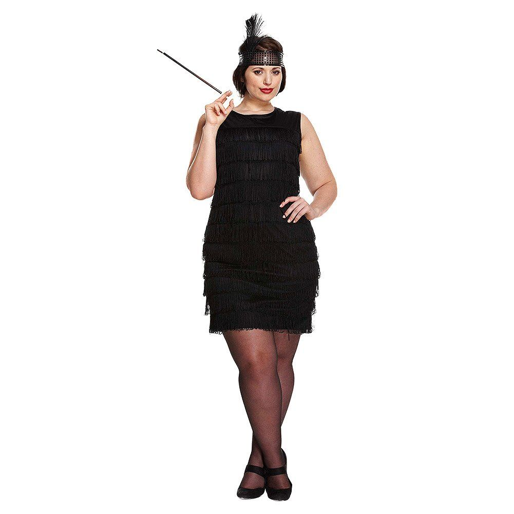 Black Flapper Lady - Plus Size