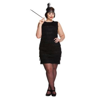 Black Flapper Lady - Plus Size