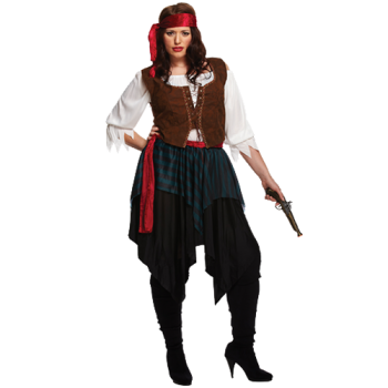 Caribbean Pirate Lady - Plus Size