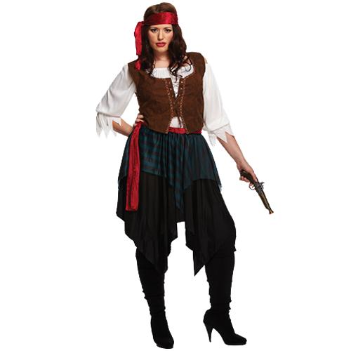 Caribbean Pirate Lady - Plus Size