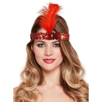 Charleston Headband Red
