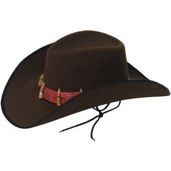 Brown Cowboy Hat With Teeth