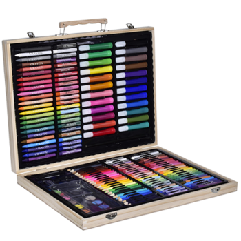 Art Set In Wooden Carry Case