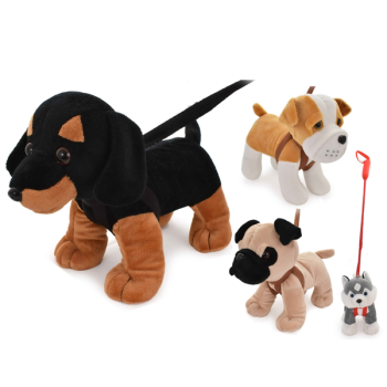 Plush Dog On Lead