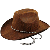Leather Look Cowboy Hat