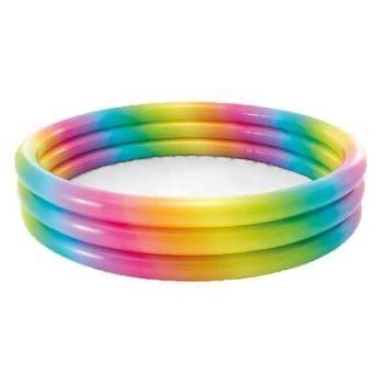 "Rainbow Ombre Pool 3 Ring (58"" x 13"")"