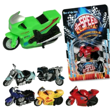 Hi-Speed Friction Powered Motorcycle