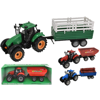 Friction Farm Tractor & Trailer