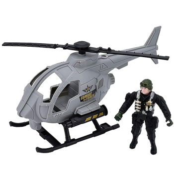 Military Helicopter Playset
