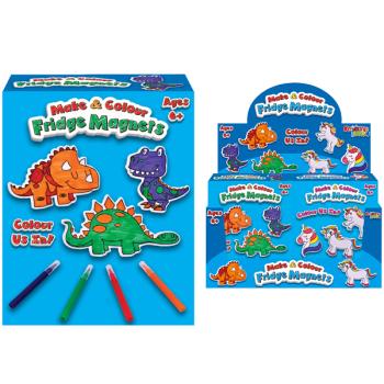 Make & Colour Fridge Magnets Dinosaur/Unicorn