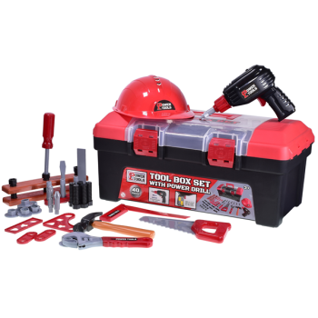 Tool Box Set With Power Drill