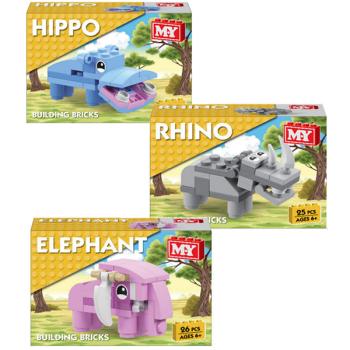 Hippo / Rhino / Elephant Building Bricks