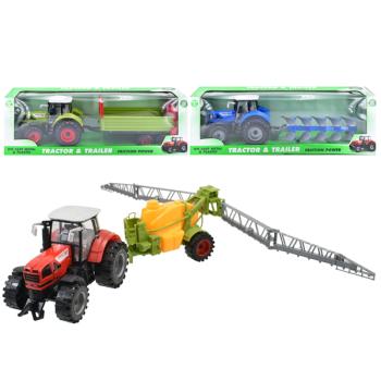 Die-Cast Metal & Plastic Tractor & Trailer