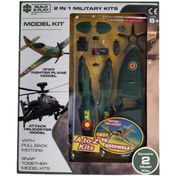 Plane & Helicopter Military Kits 2 In 1