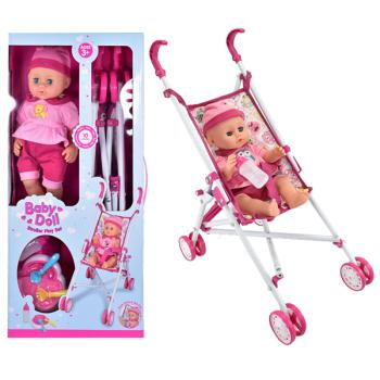 Baby Doll Stroller Playset