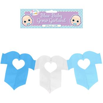 Mum to Be Baby Grow Garland - Blue