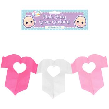 Mum to Be Baby Grow Garland - Pink