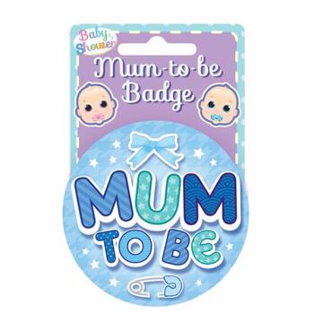 Mum to Be Badge Blue