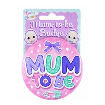 Mum to Be Badge Pink