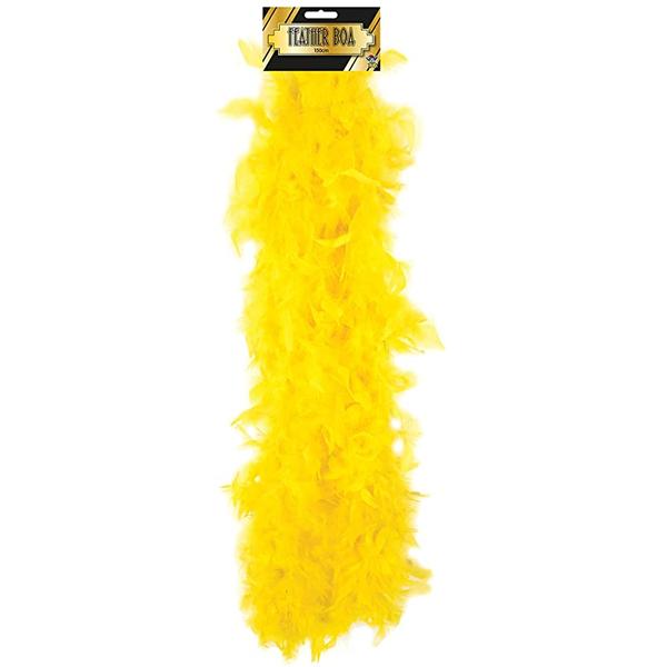 Feather Boa Yellow