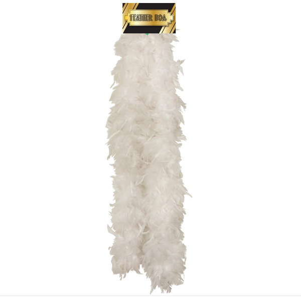 Feather Boa White