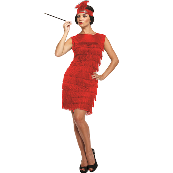 Red Flapper Lady