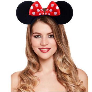 Mouse Ears Headband With Bow