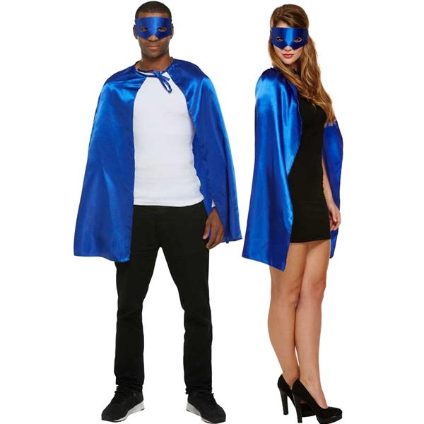 Superhero Cape & Mask Blue