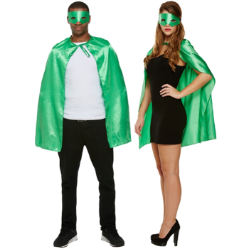 Superhero Cape & Mask Green