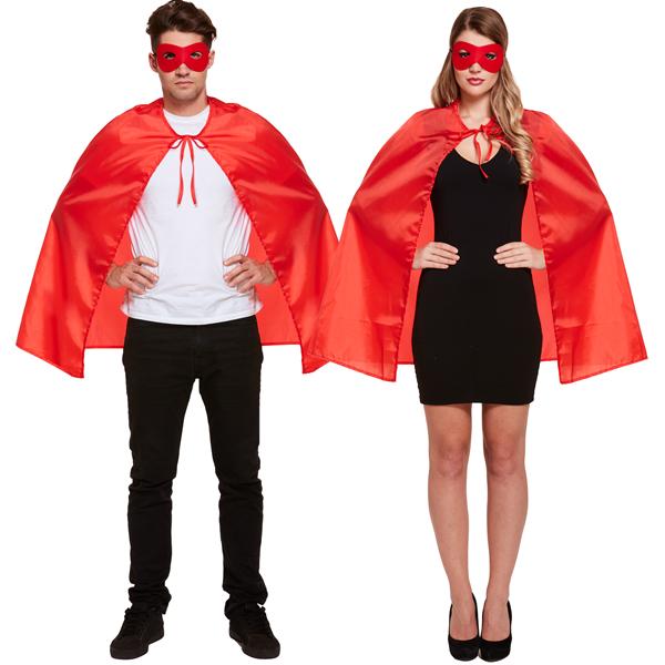 Superhero Cape & Mask Red
