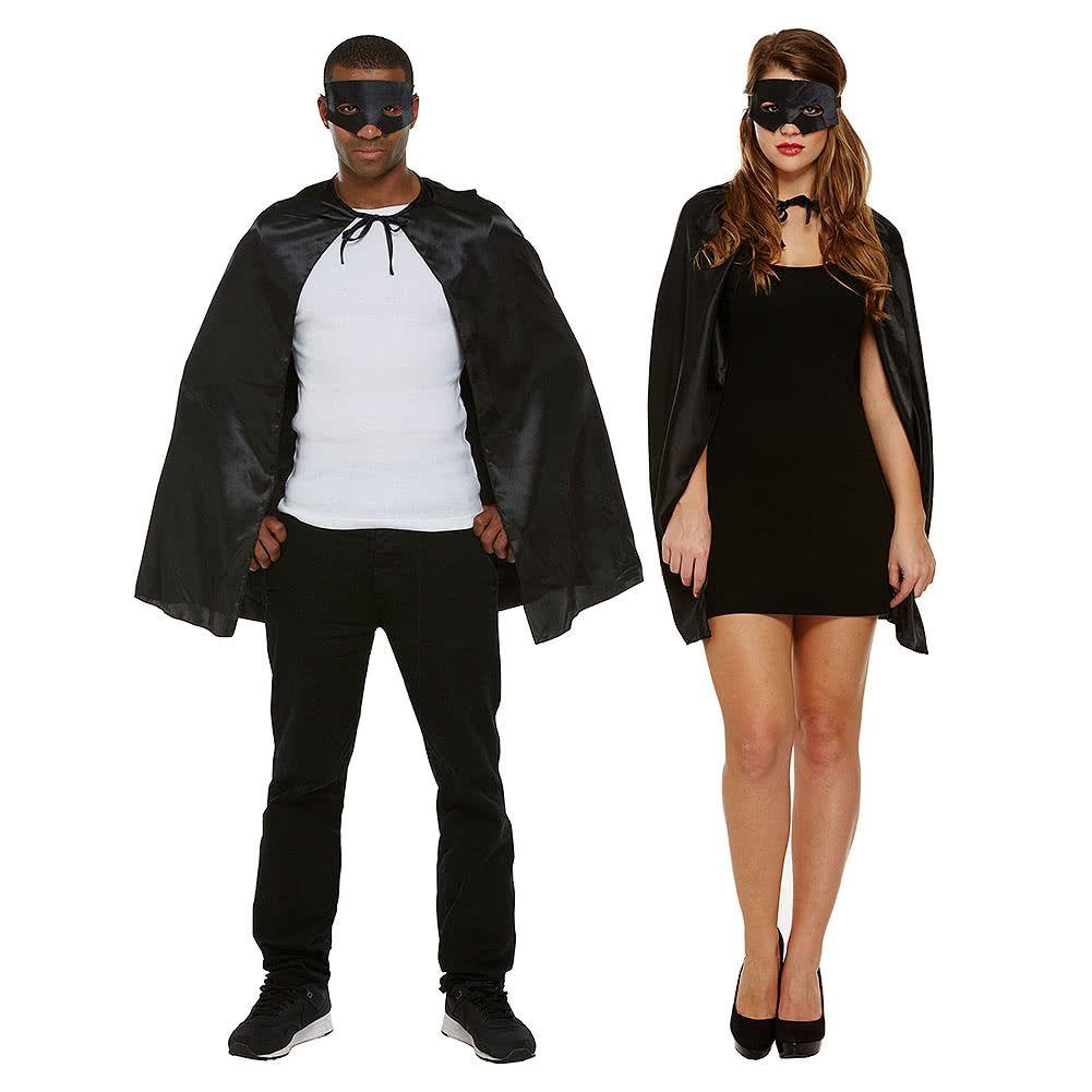 Superhero Cape & Mask Black