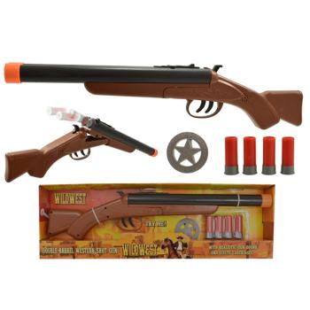 Double Barrel Western Shot Gun