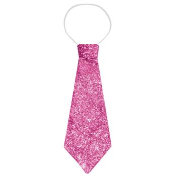 Pink Glitter Tie
