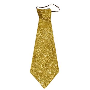 Gold Glitter Tie