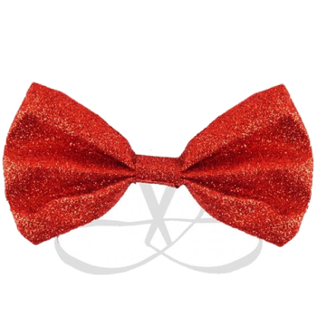 Red Glitter Bow Tie