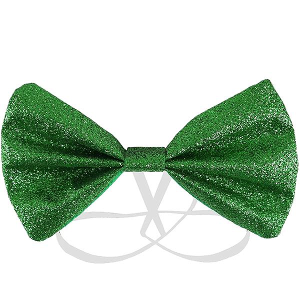 Green Glitter Bow