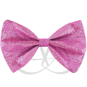 Pink Glitter Bow Tie