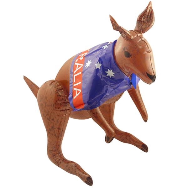 Kangaroo With Aussie Flag